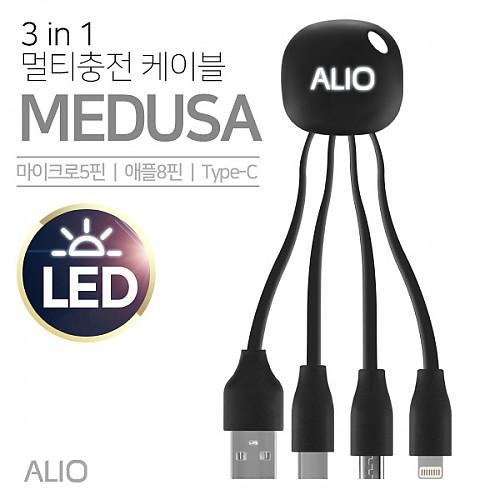 ALIO 3in1 메두사 멀티충전 케이블(LED형)