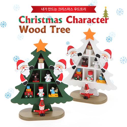 Christmas Character Wood Tree 산타(그린)