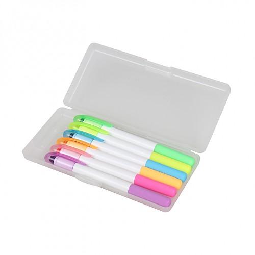 6색 고체형광펜