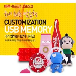 맞춤제작 국내최초 제작형 USB메모리 3.0 빠른전송속도(8GB~64GB)